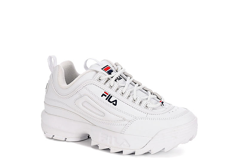 WHITE FILA Mens Disruptor 2