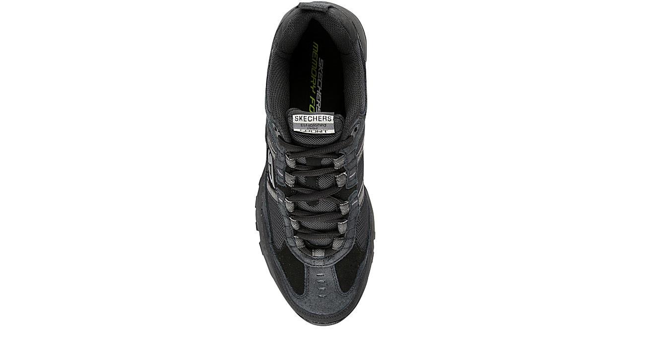 SKECHERS Mens Vigor 2.0 Trait Walking Shoe - BLACK