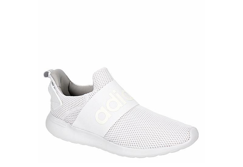 WHITE ADIDAS Mens Lite Racer Adapt Sneaker