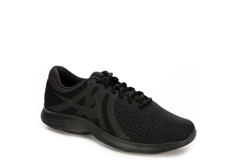 9cf01eb2a02cb All Black Nike Revolution 4 Men s Running Shoes