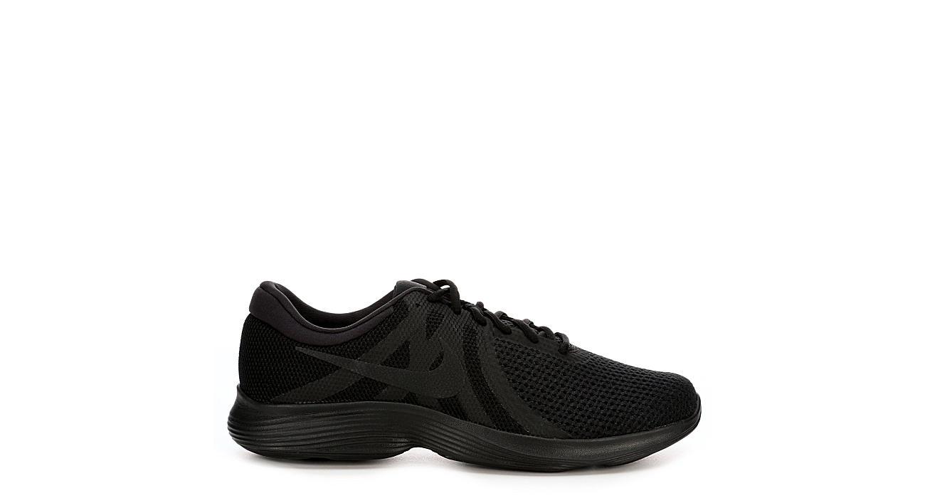 1f0021189ecc All Black Nike Revolution 4 Men s Running Shoes