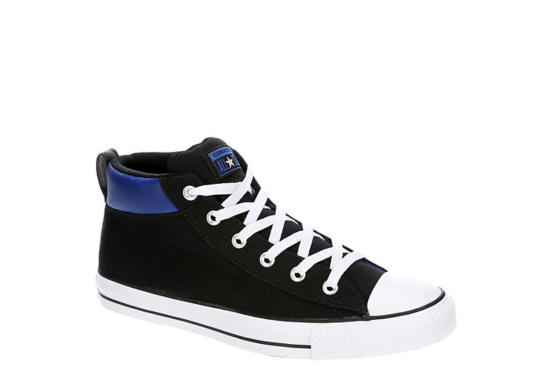 BLACK CONVERSE Mens Chuck Taylor All Star Street Mid