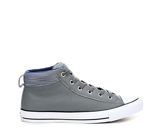 Mens Chuck Taylor All Star Street Hi Boot Leather Fleec