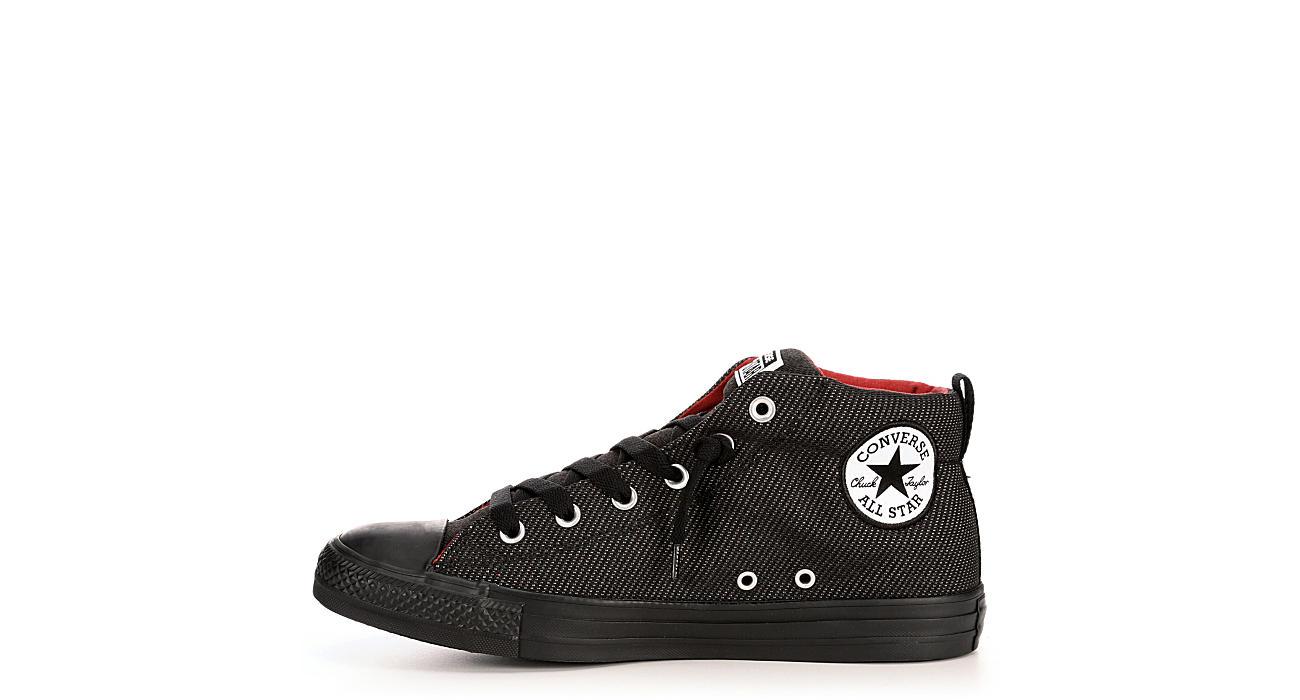 932626f5e27 Converse Mens Chuck Taylor All Star Street Mid Knit - Black