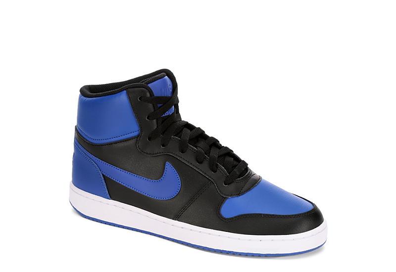 338dd386fc0a Black Blue Nike Ebernon Men s High Top Sneakers