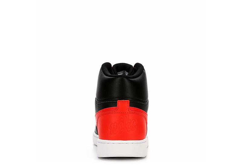 NIKE Mens Ebernon Mid Sneaker - BLACK