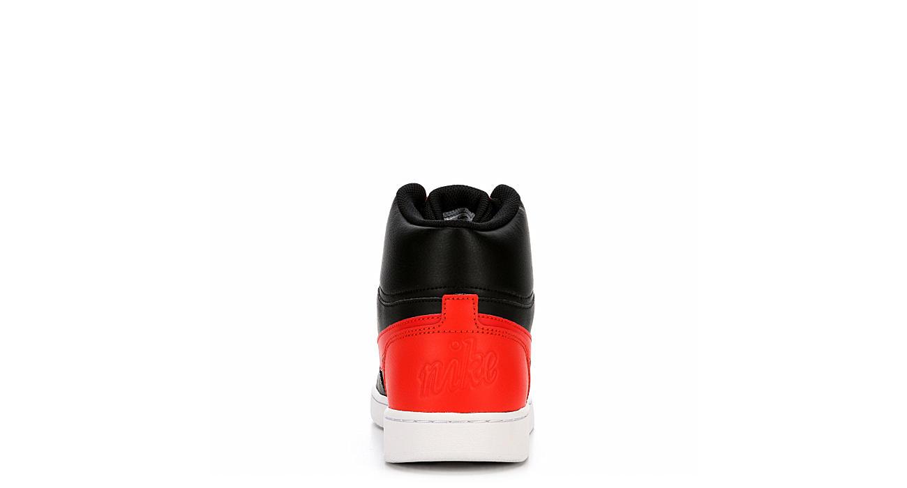 7fd6b5b149 Black Red Nike Ebernon Men s High Top Sneakers