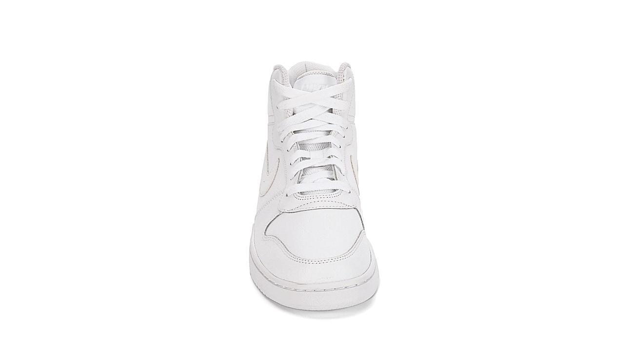 NIKE Mens Ebernon Mid Sneaker - WHITE