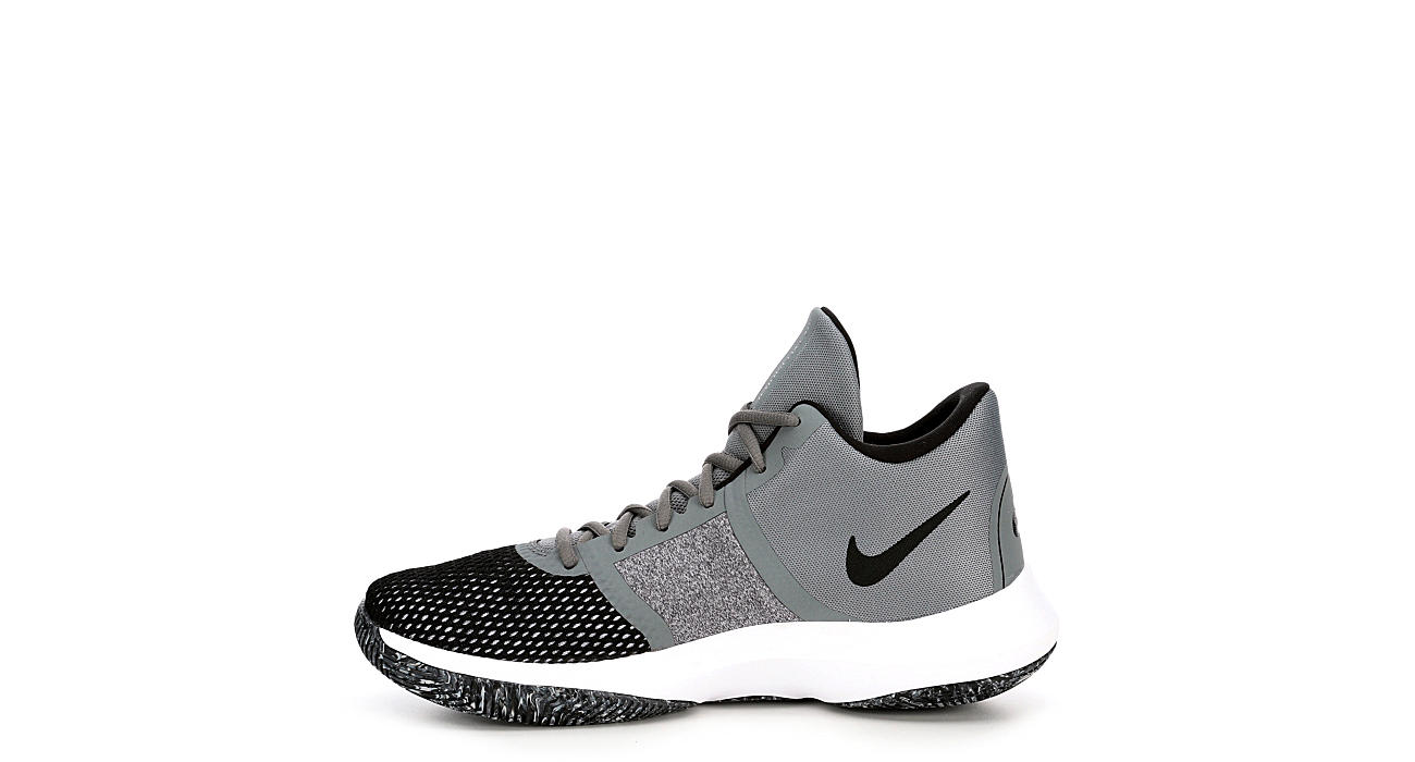 NIKE Mens Air Percision High Top Basketball Shoe - GREY