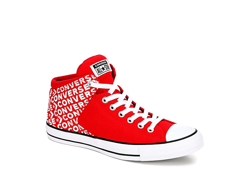 luxury fashion autumn shoes on feet at RED CONVERSE Mens Chuck Taylor All Star High Street High