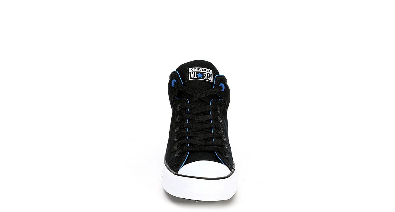 CONVERSE Mens Chuck Taylor All Star High Street Mid Sneaker - BLACK