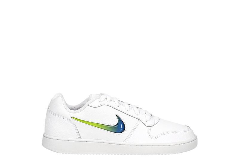 NIKE Mens Ebernon Premium Sneaker - WHITE