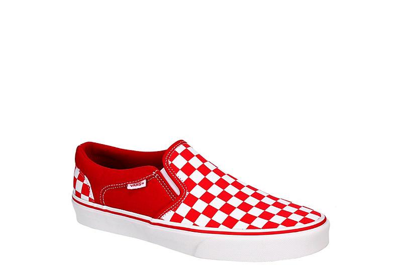 RED VANS Mens Asher Slip On Sneaker