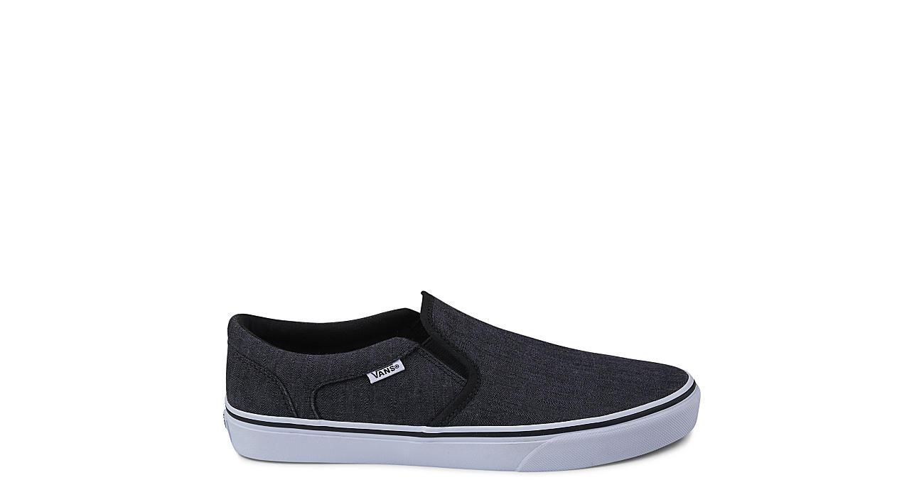 9a55b1f8f58 Vans Mens Asher Slip-on - Black