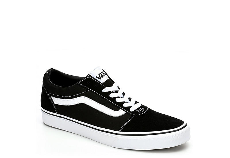 524a60fce6074d Black   White Vans Ward Men s Low Top Sneakers