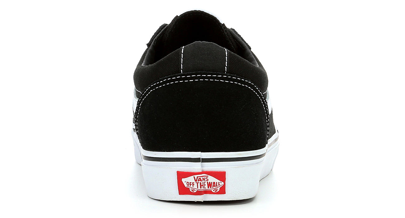 94ccb941c1455d Black   White Vans Ward Men s Low Top Sneakers