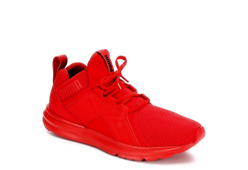 91c8c99c5342 All Red Puma Enzo Men s Casual Sneakers