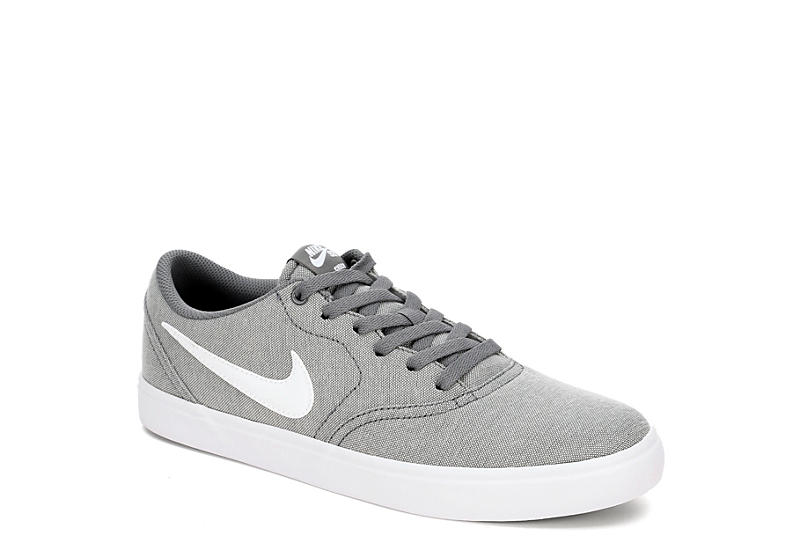 1a0fe069a3a430 Nike Mens Sb Check Solarsoft Canvas - Grey