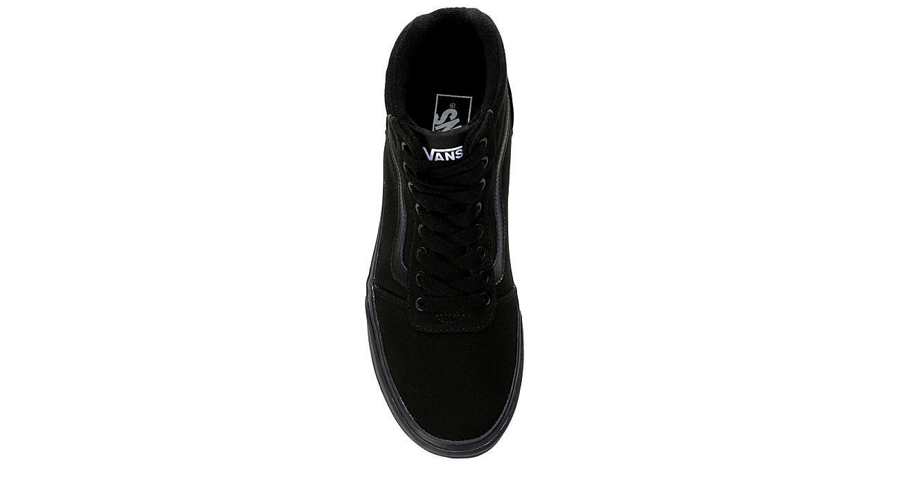 VANS Mens Vans Ward Hi Mid Sneaker - BLACK