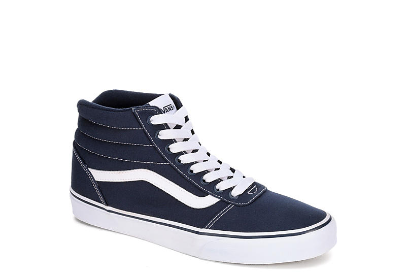 e7fbd14be02c85 Navy Blue Vans Ward Men s High Top Sneakers