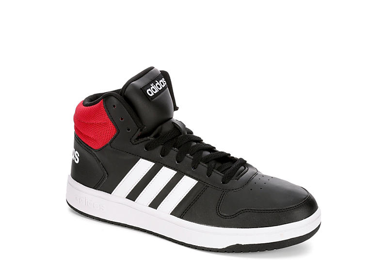 BLACK ADIDAS Mens Hoops Mid 2.0