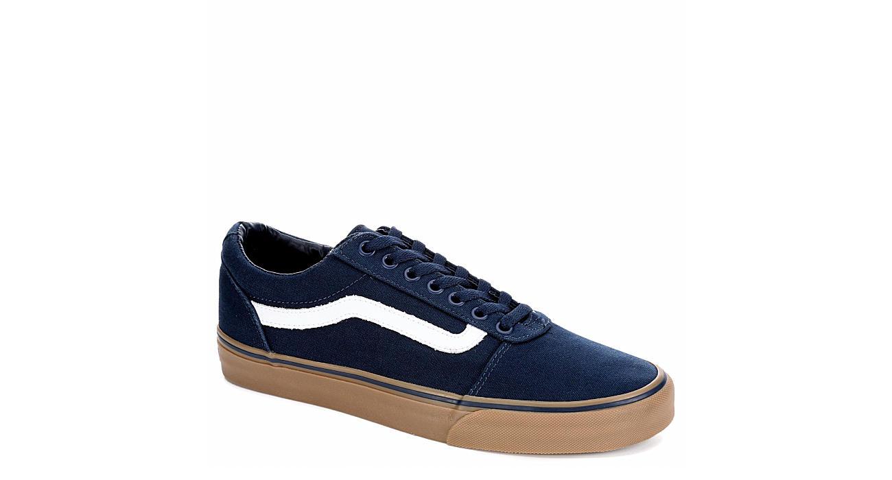 Navy Blue Vans Ward Men s Gum Sole Sneakers  b844d1b67