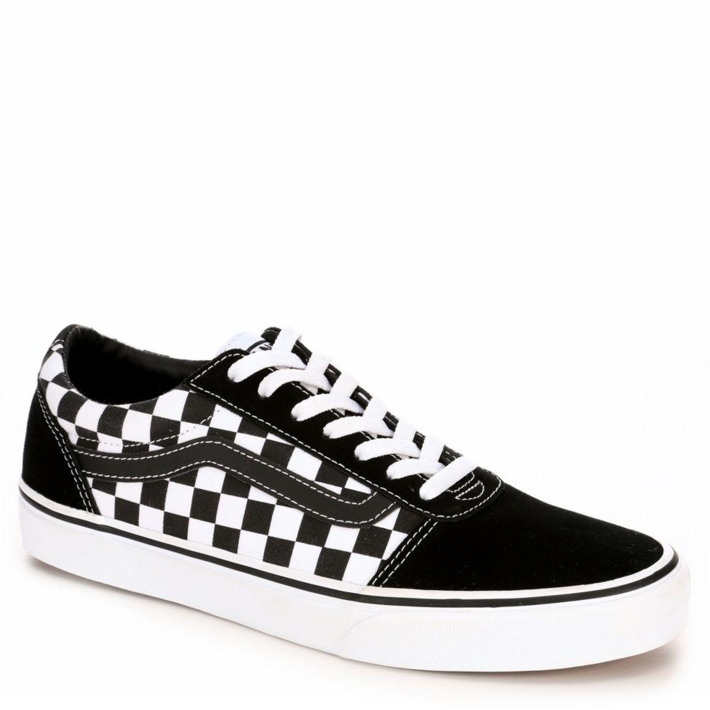 black vans checkered