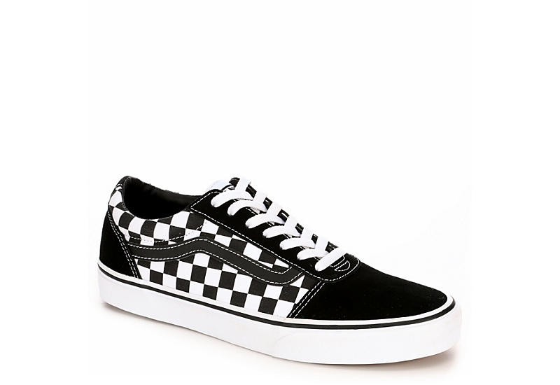 Black   White Checkered Vans Ward Men s Sneakers  29b226a63