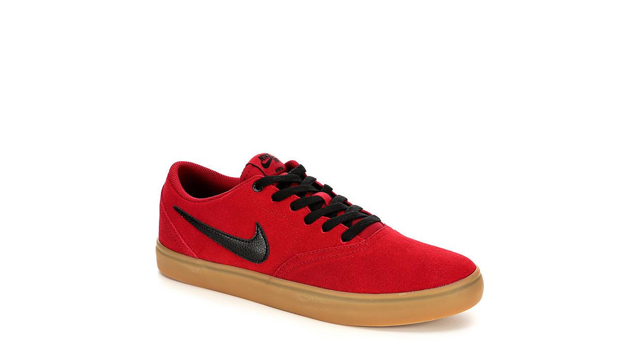 e5a35c38f6b Nike Mens Sb Check Solar Suede - Red