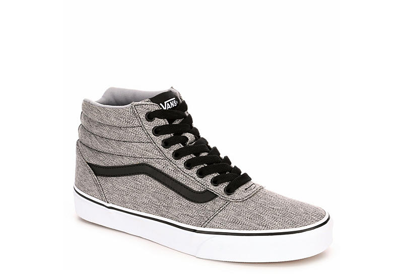 0b6dc21b7e5bd Black   Grey Vans Ward Men s High Top Sneakers