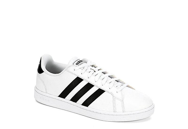 WHITE ADIDAS Mens Grand Court