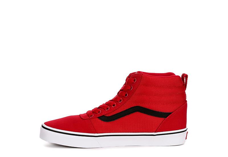 VANS Mens Vans Ward Hi Mid Sneaker - RED
