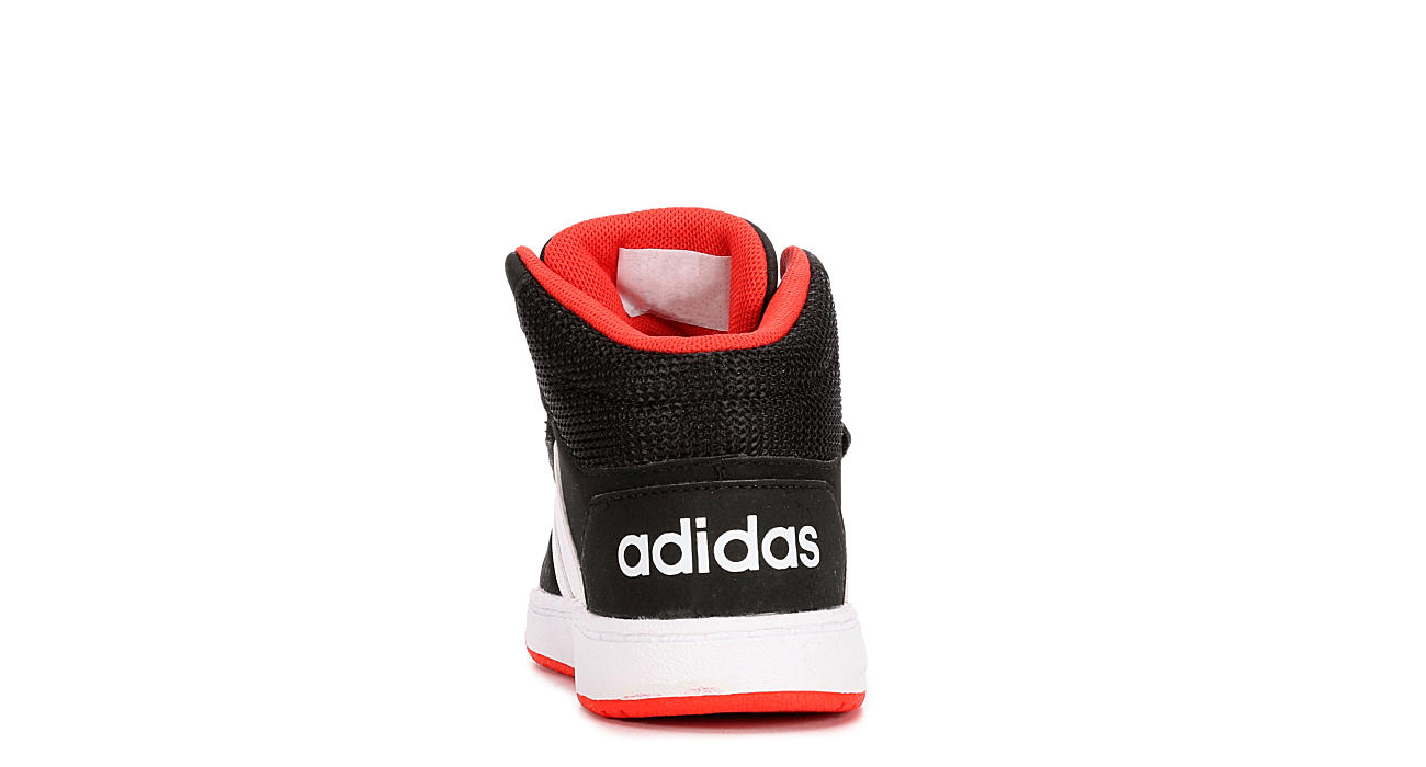 ADIDAS Boys Infant Hoops 2.0 Mid Top Sneaker - BLACK