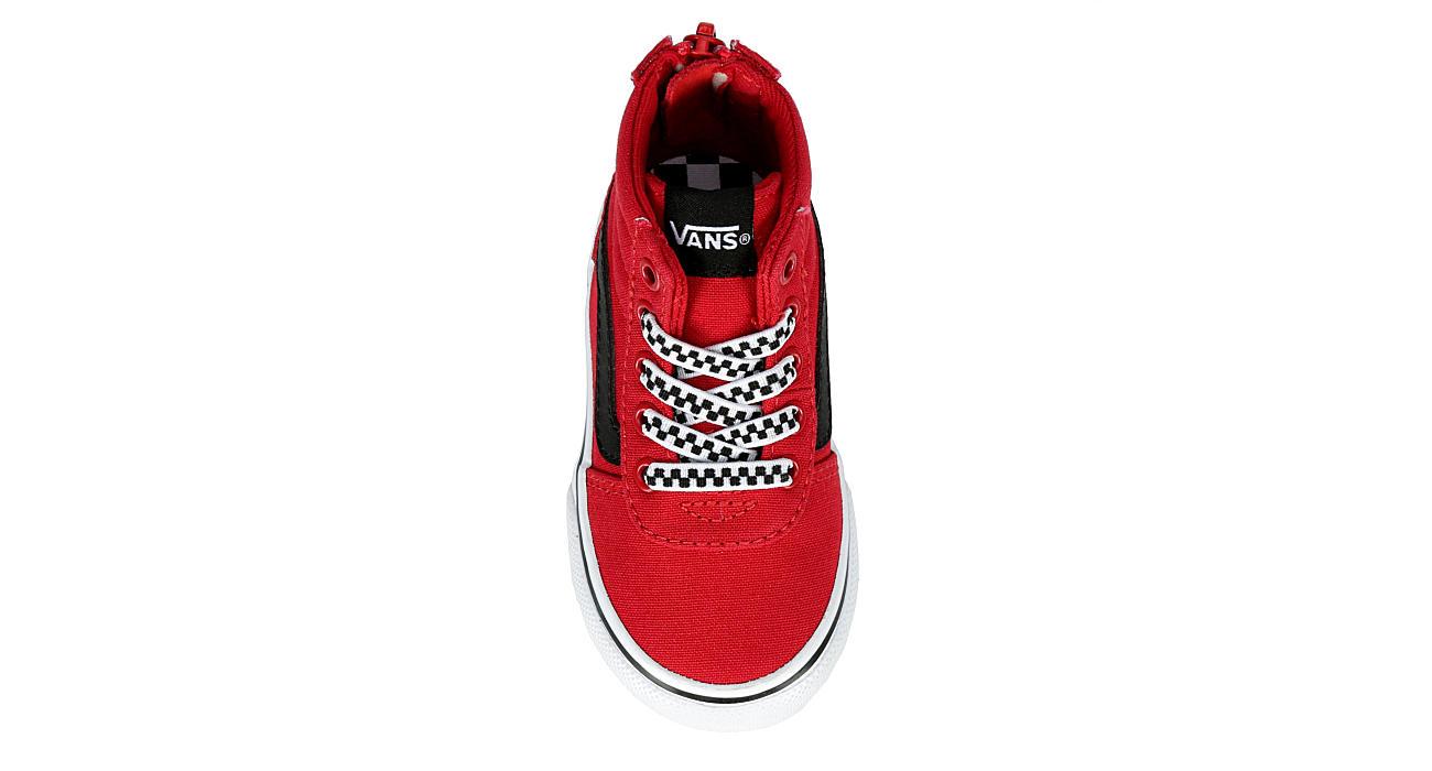 VANS Boys Infant Ward Hi Zip Sneaker - RED