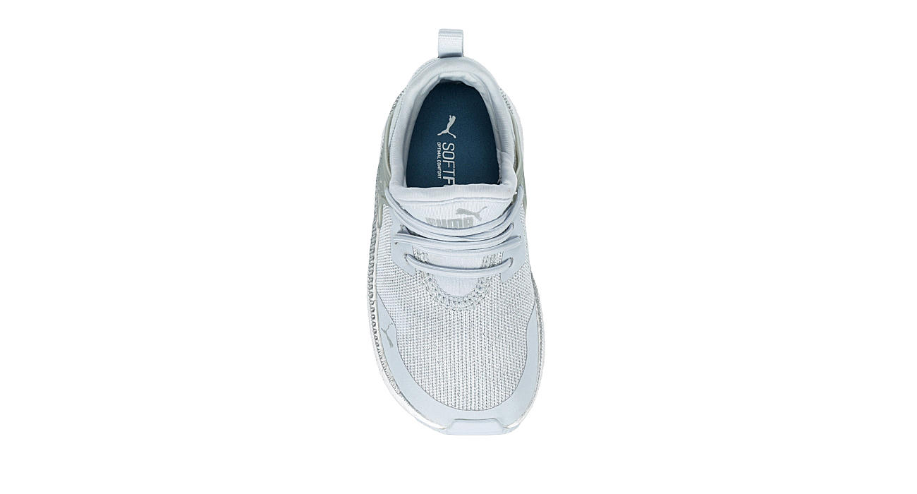 PUMA Girls Infant Pacer Next Cage Slip On Sneaker - SILVER