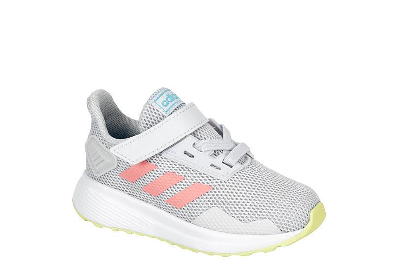 GREY ADIDAS Girls Infant Duramo 9 Slip On Sneaker