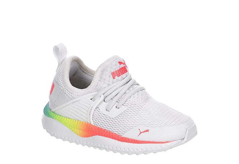 PUMA Girls Infant Pacer Excel Sneaker - WHITE