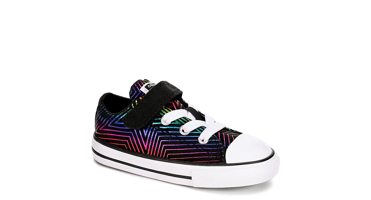 CONVERSE Girls Infant Chuck Taylor All Star Ox Slip On Sneaker - BLACK