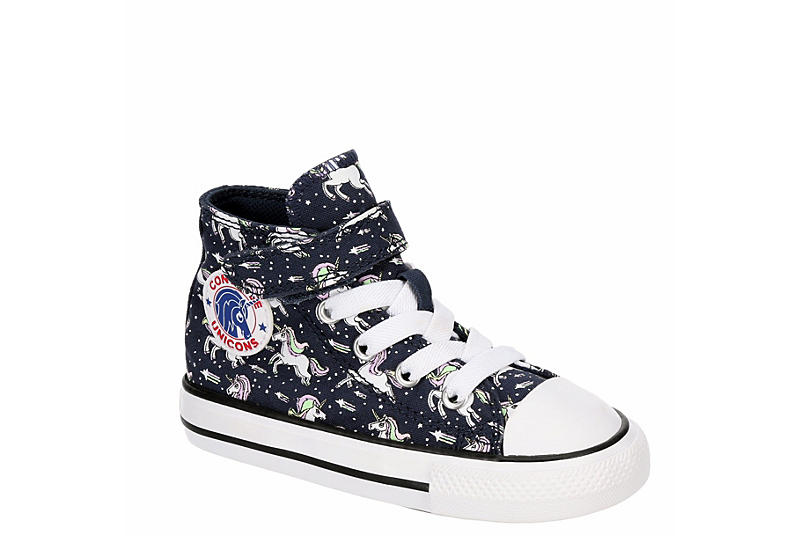 CONVERSE Girls Infant Chuck Taylor All Star Hi Top Sneaker - NAVY