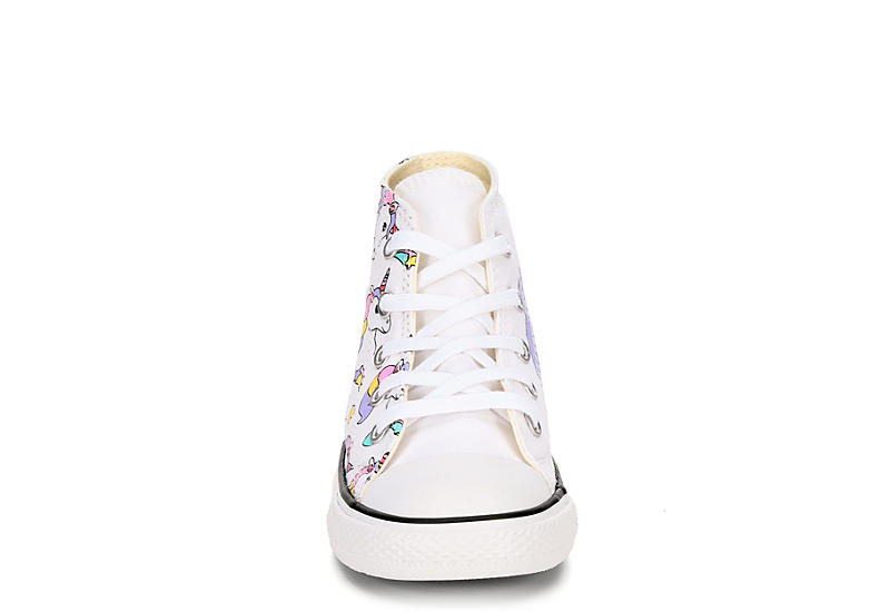 CONVERSE Girls Infant Chuck Taylor All Star Hi Top Sneaker - WHITE