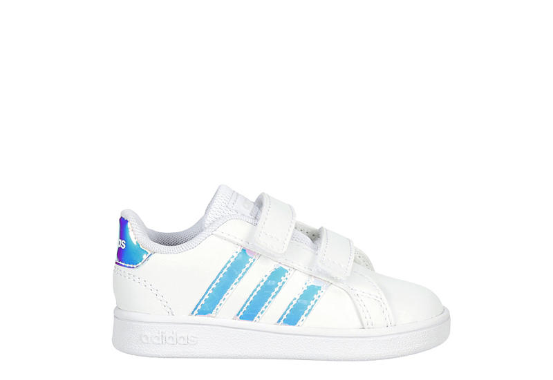 ADIDAS Girls Infant Grand Court Slip On Sneaker - WHITE