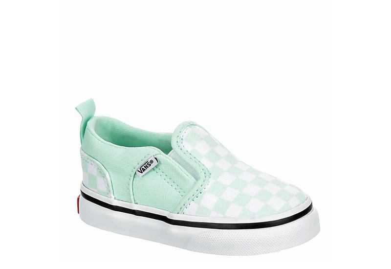 MINT VANS Girls Infant Asher Slip On Sneaker