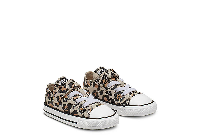 LEOPARD CONVERSE Girls Infant Chuck Taylor All Star Low Sneaker