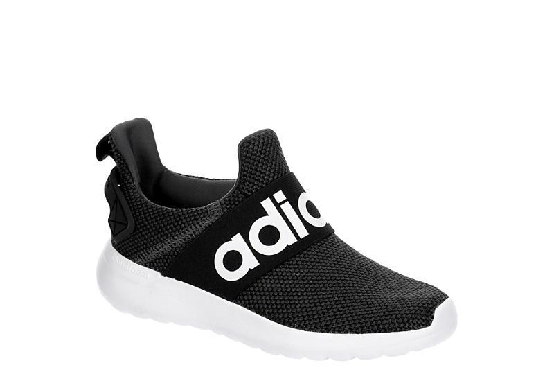 BLACK ADIDAS Boys Lite Racer Adapt Slip On Sneaker