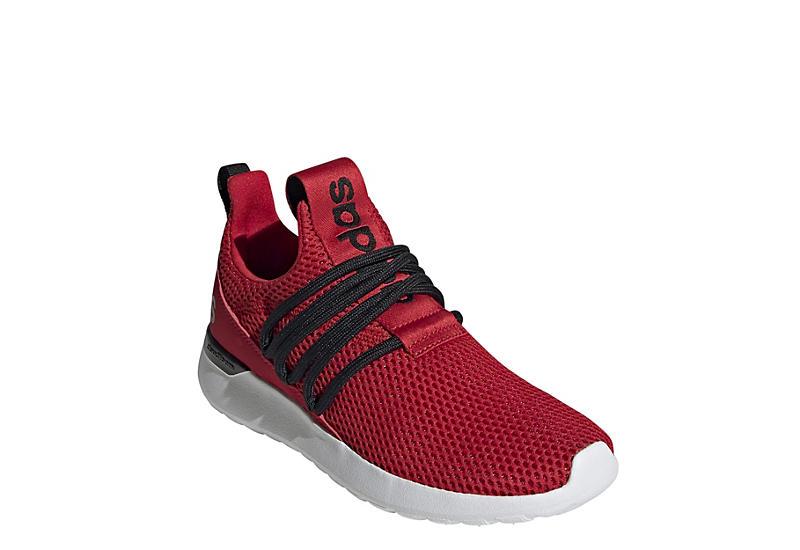RED ADIDAS Boys Lite Racer Adapt 3.0 Slip On Sneaker