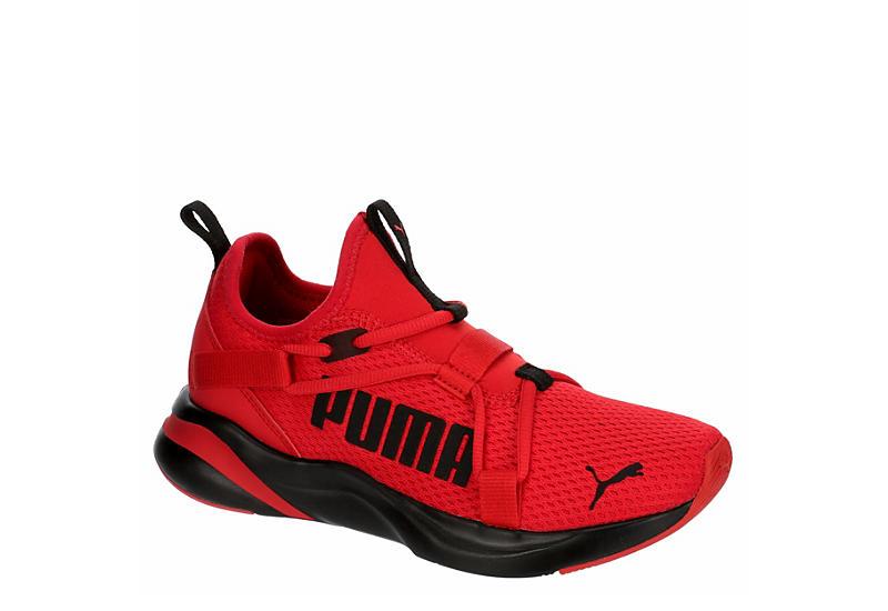 RED PUMA Boys Softride Rift Slip On Sneaker