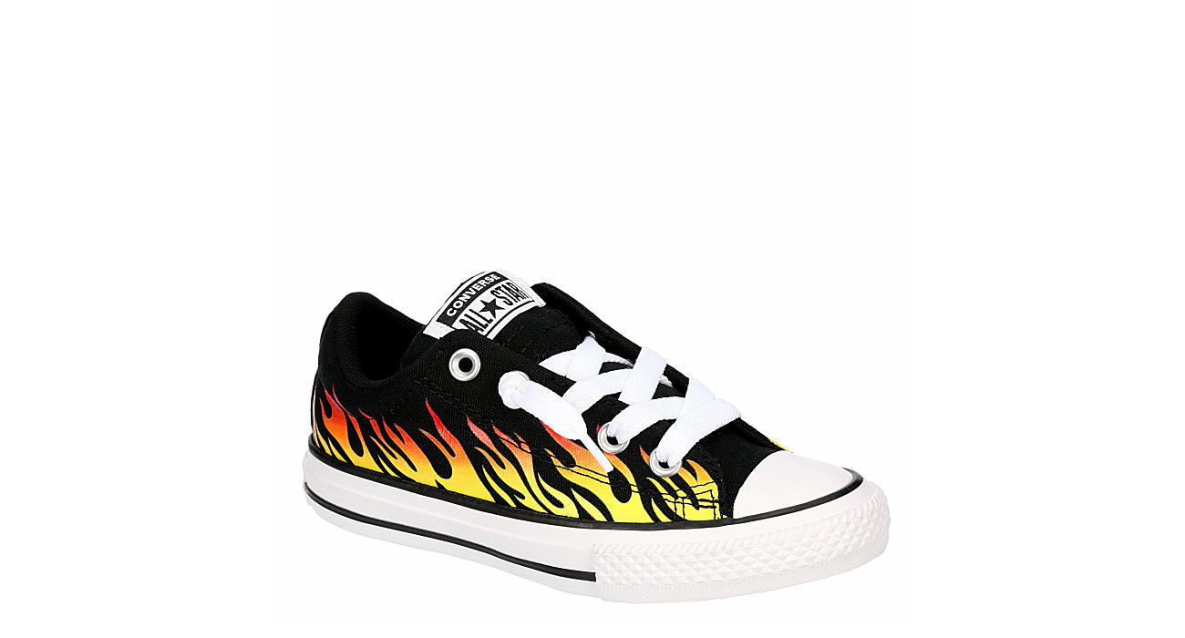 CONVERSE Boys Chuck Taylor All Star Street Flames Ox - BLACK