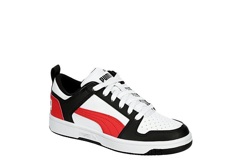 WHITE PUMA Boys Rebound Layup Low Sneaker