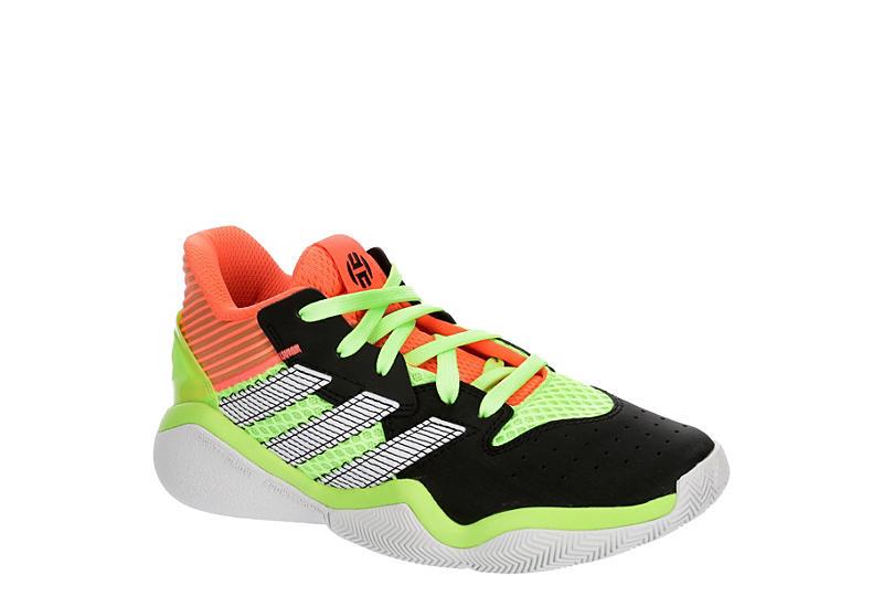 YELLOW ADIDAS Boys Harden Stepback Sneaker