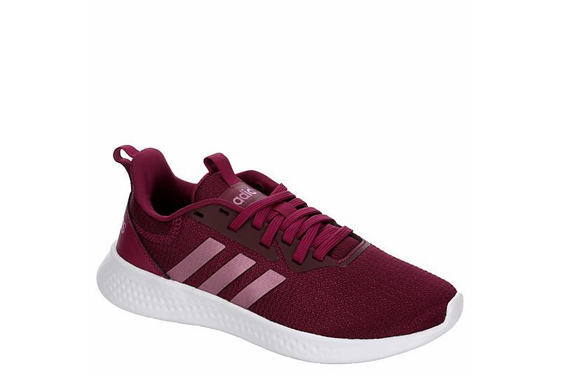 BURGUNDY ADIDAS Girls Puremotion Sneaker